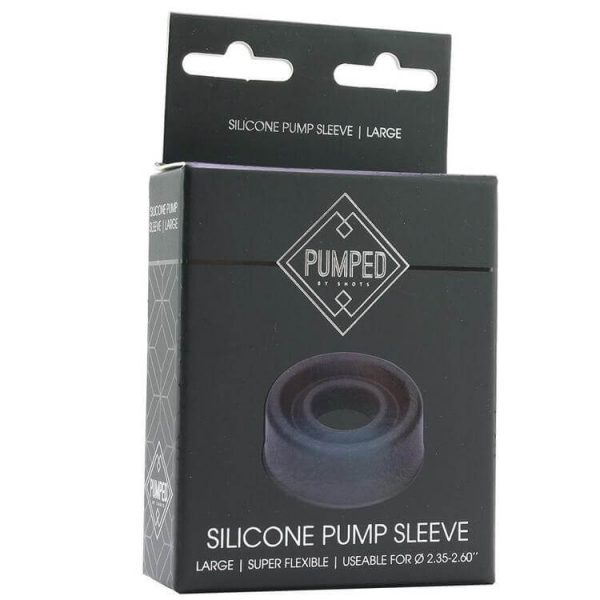 Pumped Large Silicone Pump Sleeve in Black 4