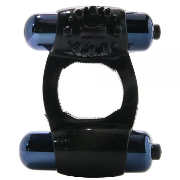 Duo-Vibrating Super Ring in Black